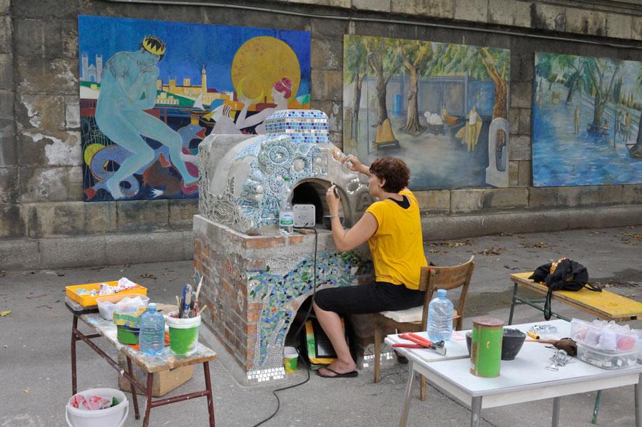 Donaukanal Street Art blog Vienne Schützenhaus Badeschiff Urania Viennois