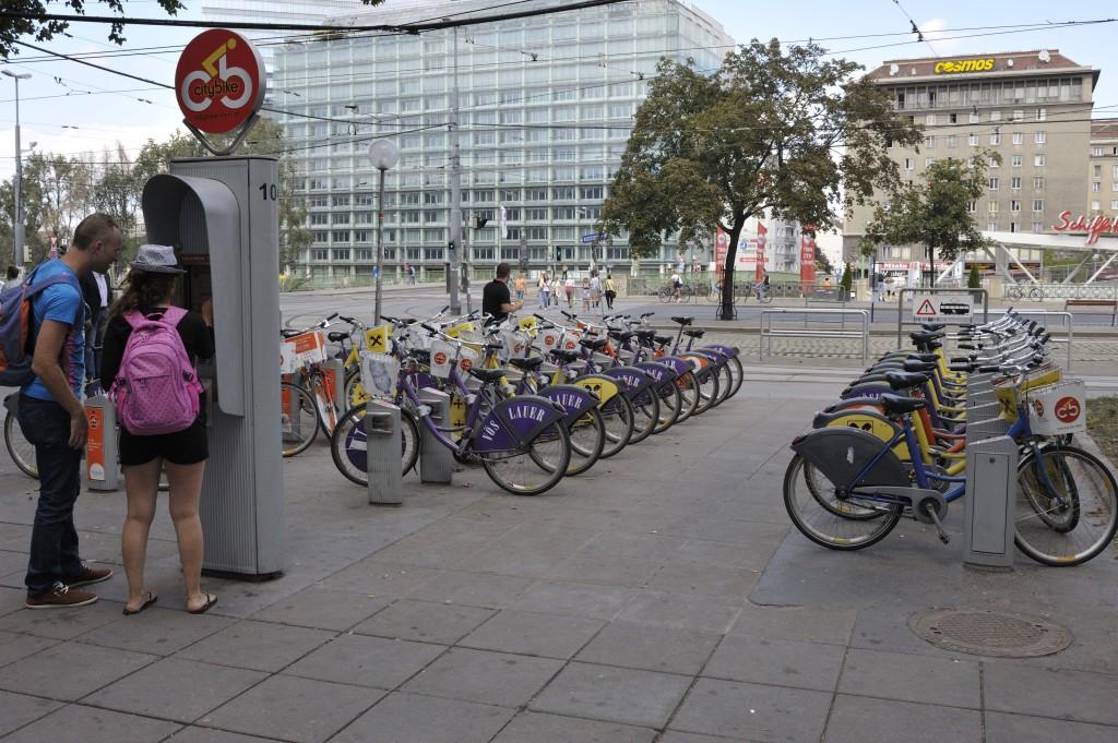 Station avec borne Citybike