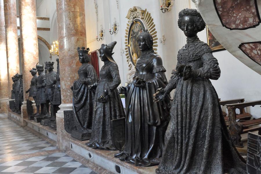Innsbruck, Roi Arthur, Schwarzer Mander, Hofkirche, Tyrol