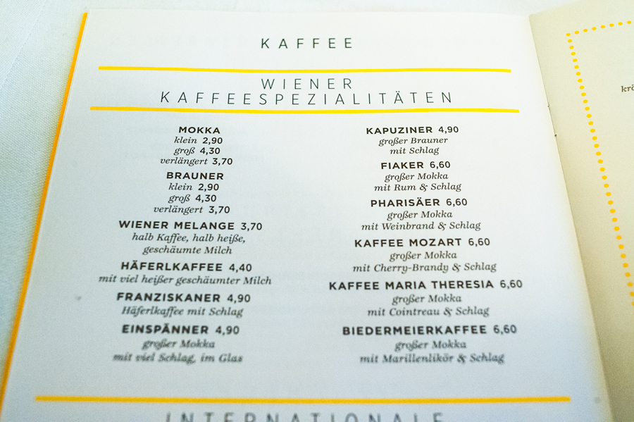 Blog, Entropy, Kaffeespezialitäten, Café Korb, Cafés viennois, Kaffeehaus, Kaffeevariationen, Wien